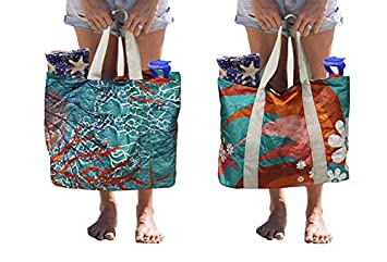 Amazon.com: Earthwise Tyvek Reversible Reusable Shopping Tote ...
