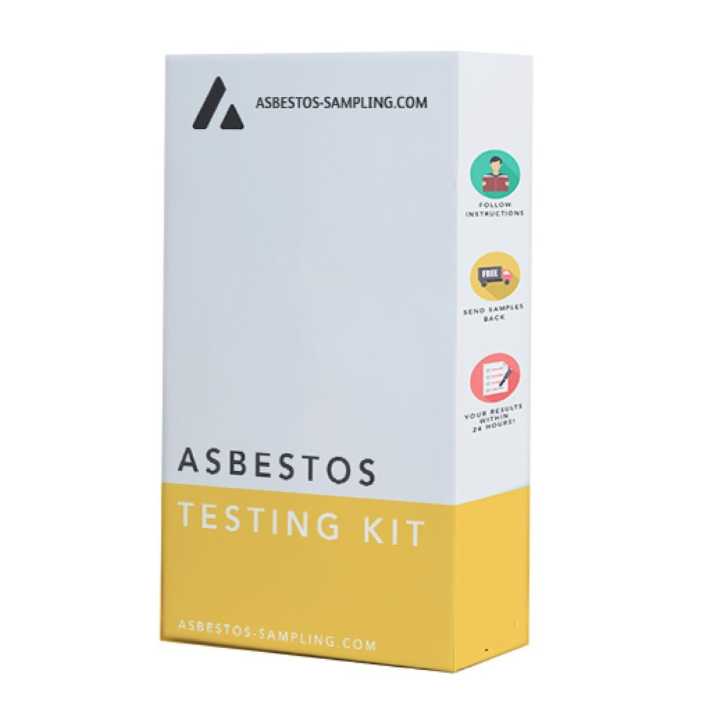 Asbestos Sampling DIY Asbestos Testing Kit/Sample Kit - 4 x Sample - Supplied with industry approved protective equipment, UKAS accredited laboratory result. The UK's No1 Domestic and Commercial Supplier Asbestos-sampling.com