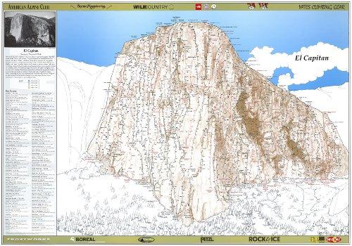 Original El Capitan Route Poster - Climbing El Capitan Yosemite