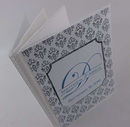 Wedding Photo Album. Black damask. 331. 4x6 or 5x7 pictures, personalized engagement anniversary. monogrammed wedding gift