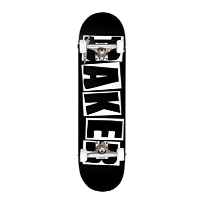 "Baker Skateboards Factory Assembled Complete Logo Black/White 8.25"" : Sports & Outdoors"