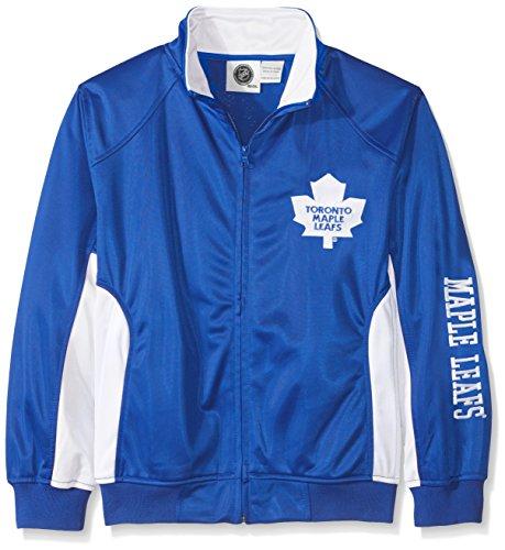 (NHL Toronto Maple Leafs Tricot Track Jacket with Logo WordMark, Large, Royal)