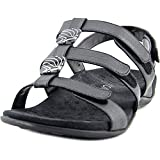 Vionic with Orthaheel Technology Womens Amber Slide Sandal Black Wide Size 8