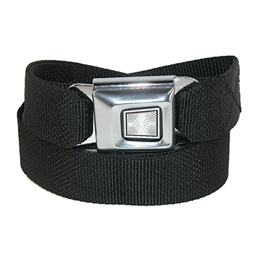 Buckle Down Plain Seatbelt Buckle Adjustable Belt, Black - Buckle Down Belt Buckles