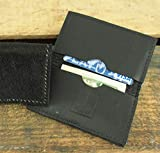 Black Cowhide Leather Western Wallet with RFID Blocking
