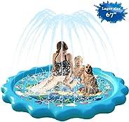 Homydom Sprinkler for Kids, Splash Pad for Toddlers Outdoor Inflatable Sprinkler Water Toys for Kids