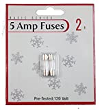 General 64984 - Christmas 5 Amp Replacement Fuses (2 pack)