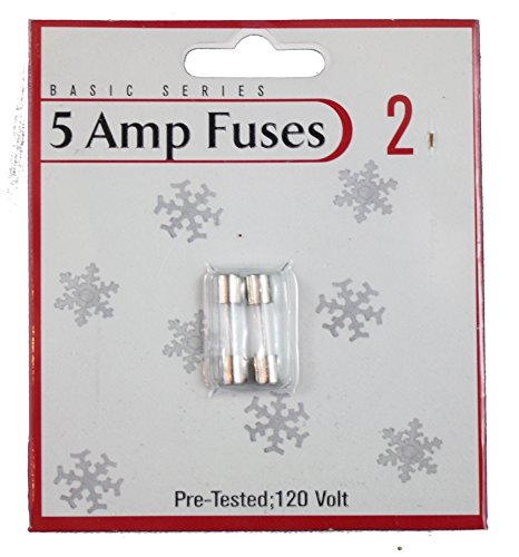 General 64984 - Christmas 5 Amp Replacement Fuses (2 pack) by General (Image #2)