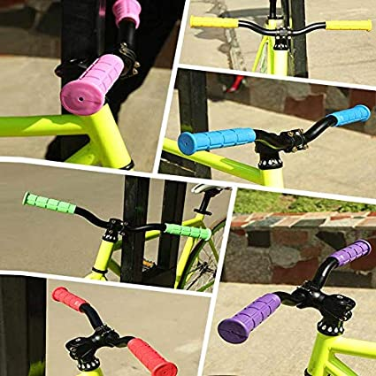 1 Pair MTB Bike Mountain Bicycle Handle Handlebar Soft Rubber Bar End Grips