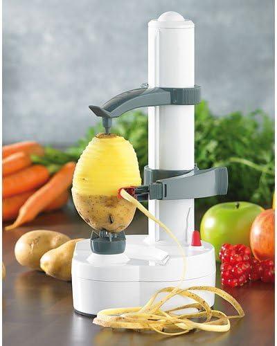 Rosenstein Söhne Kartoffelschäler Elektrischer Obst Und Gemüseschäler Edelstahl Klinge Elektrischer Schäler Amazon De Küche Haushalt