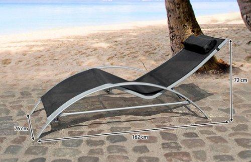beliani catania aluminum outdoor patio garden sunlounger black furniture furniture seating. Black Bedroom Furniture Sets. Home Design Ideas