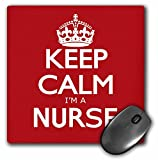 3dRose LLC 8 x 8 x 0.25 Inches Mouse Pad, Keep Calm Im