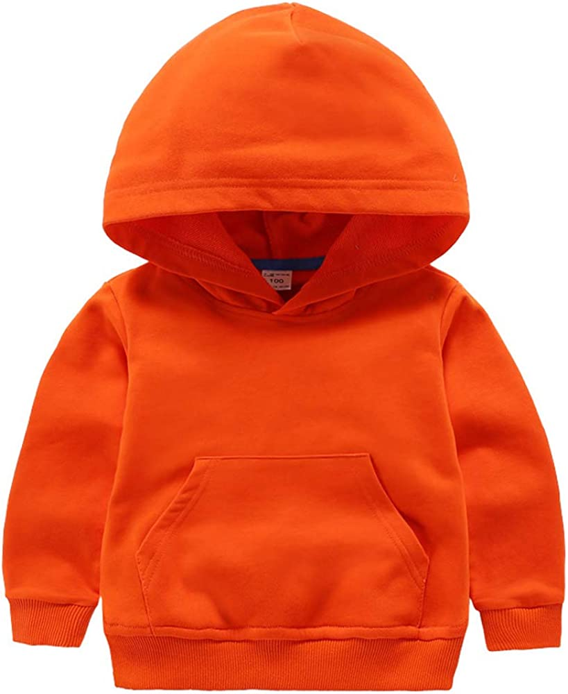 Ding-dong Baby Toddler Kid Boy Girl Solid Casual Pocket Hoodie Sweatershirt Pullover