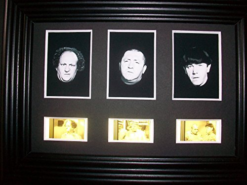THREE STOOGES CURLY Framed Trio 3 Film Cell Display Collectible Movie Memorabilia