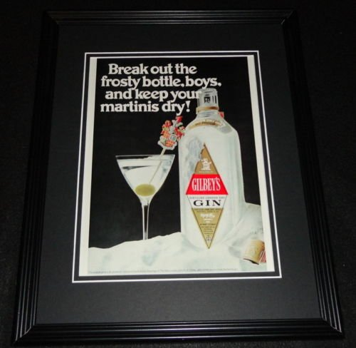 1970 Gilbey's Gin Framed 11x14 ORIGINAL ()