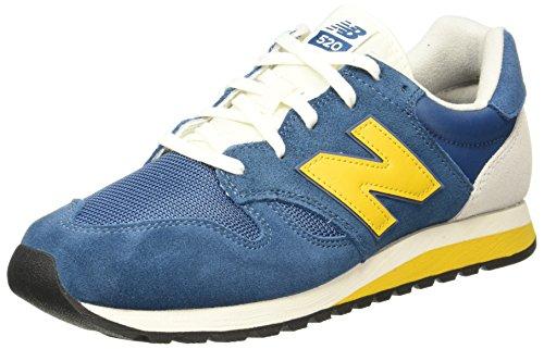 Yellow New Balance (New Balance 520 Classic 70s Running Mens Trainers Blue Yellow - 10 UK)