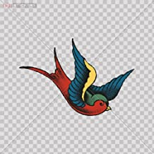 Sticker Swallow Color Print (8 X 5.4 Inch) X9982 Size: 5 X 3.4 Inches Vinyl color print