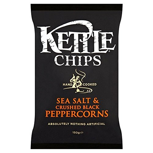 Kettle Chips - Sea Salt & Crushed Black Peppercorns (150g) - Pack of 2 by Kettle Brand