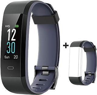 YAMAY Fitness Armband mit Pulsuhr,Wasserdicht IP68 Schrittzähler Fitness Uhr Farbbildschirm Fitness Tracker Pulsmesser Smartwatch Aktivitätstracker Sportuhr für Damen Herren für iOS Android Handy