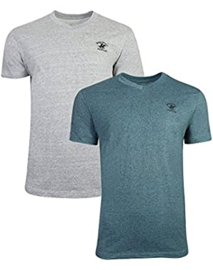 Men's V-Neck T-Shirt with Horse Logo (2 Pack)