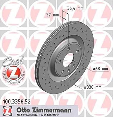 Zimmermann 100 3358 52 Bremsscheibe Hinten Stanzteile Sport Coat Z Auto