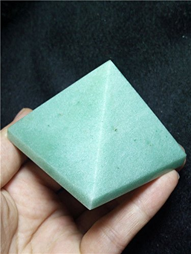 High Quality Natural Venus Green Jade Pyramid Chakra Energy Generator Reiki Size (Green Jade Like Stone)
