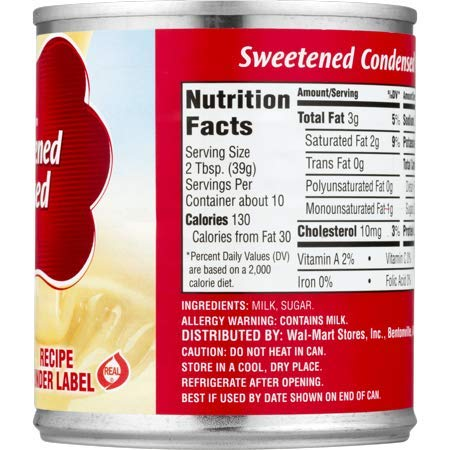 Great Value Sweetened Condensed Milk, 14 oz (10 Servings per Container) - Pack of 6 by Great Value (Image #6)