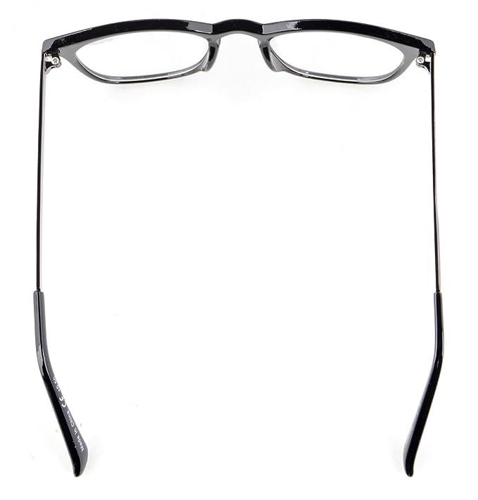 Eyekepper I lettori di qualità Primavera-Cerniere quadrato del foro chiave di stile occhiali da lettura Amber Frame Black Arms +2.75 5AEBteh