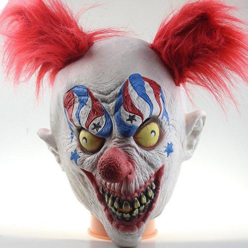 MostaShow Mummy Zombies Scary Latex Full Head Cosplay Costume Halloween Horror Masks (M01-15)]()