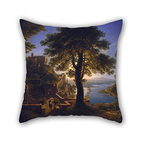 Artistdecor 16 X 16 Inches / 40 By 40 Cm Oil Painting Karl Friedrich Schinkel - Schloß Am Strom Christmas Pillow Shams 2 Sides Is Fit For Kitchen Couch Bar Seat Drawing Room Son Floor