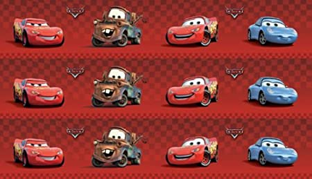Marvelous Disney Pixar Cars Wallpaper Border 4u0026quot; Red Self Adhesive