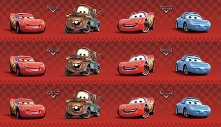 Disney Pixar Cars Wallpaper Border 4 Red Self Adhesive Amazon Co