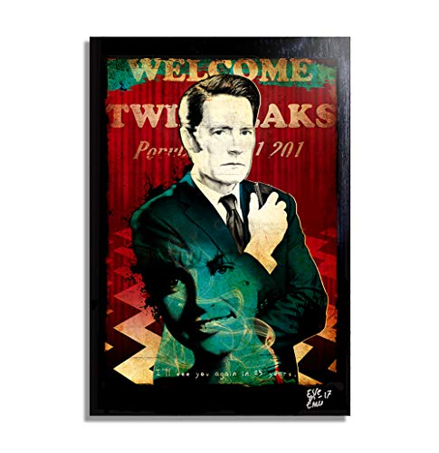 Dale Cooper from Twin Peaks (2017, David Lynch) - Pop-Art Original Framed Fine Art Painting, Image on Canvas, Artwork, Movie Poster