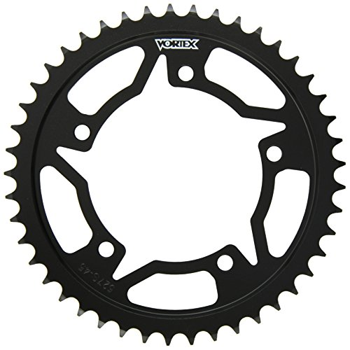 Black 45 Tooth - Vortex 527S-45 Black 45-Tooth 530-Pitch Steel Rear Sprocket