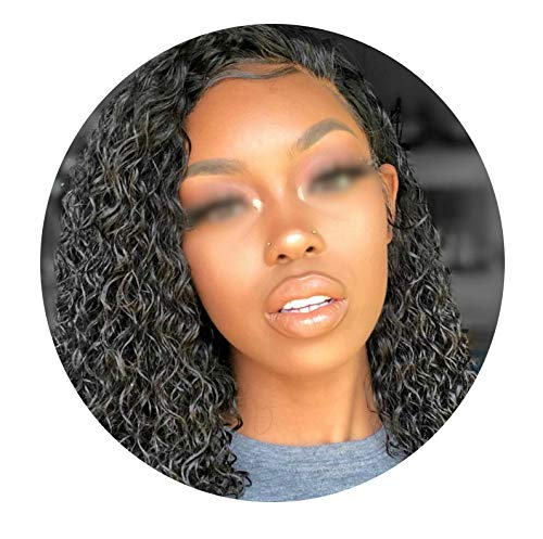 Bob Curly Lace Front Human Hair Wigs For Black Women With Baby Hair Glueless Pre Plucked Brazilian Straight Short Bob Wig,#2,12inches]()