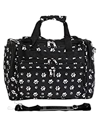 World Traveler 81T16-642 - bolsa deportiva (talla única), diseño de cachemira, color negro y azul, Animal, Black White Paws, Una talla