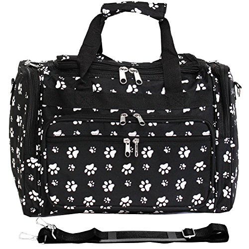 (World Traveler 81T16-587B/W  Duffle Bag, One Size, Black White Paws )