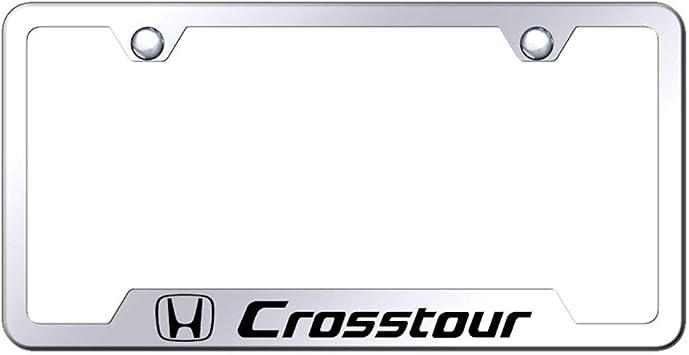 Chrome Honda CrossTour Name on Black License Plate Officially Licensed
