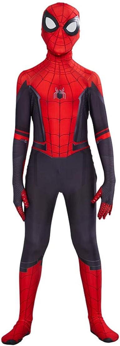 Oferta amazon: Disfraz Spiderman Far from Home Niños Spiderman Halloween Navidad Cosplay Costume Y Mascara Talla 110-120