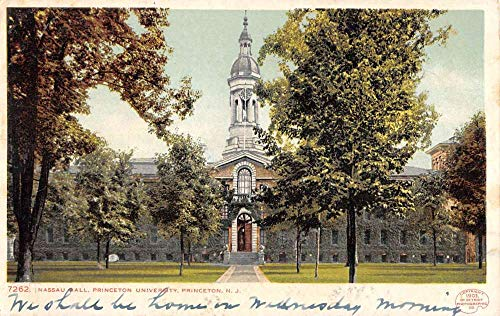 Princeton New Jersey University Nassau Hall Antique Postcard K431744