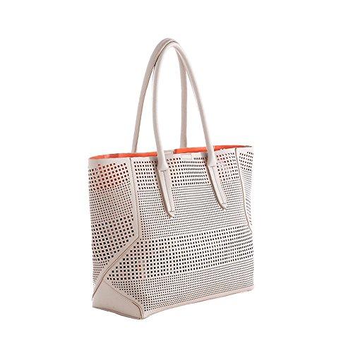 'portofino' Perforated Tote Handbag By Shiraleah Sh-01-83-371