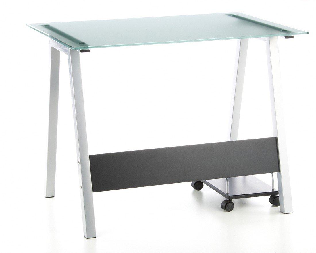 Hjh office 673925 bureau multimédia table informatique delphi noir