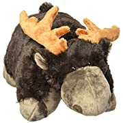 Pillow Pets Classic Chocolate Moose, 16  Snuggly Stuffed Animal Plush Toy