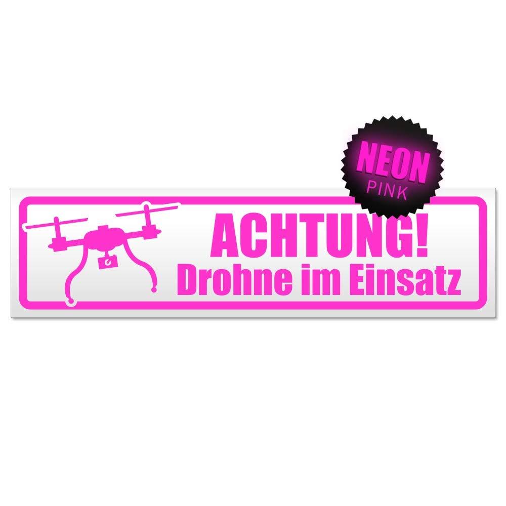 Kiwistar Achtung Drohne im Einsatz Magnetschild Schild magnetisch