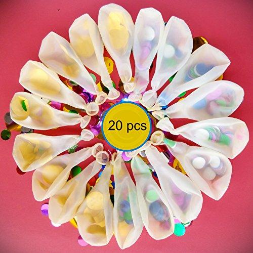 99 Toys Clear Confetti Balloons | 20 pcs | 10 golden...
