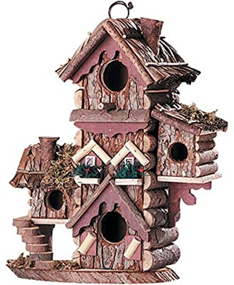 Gingerbread Style Birdhouse Avian Bird House Condo