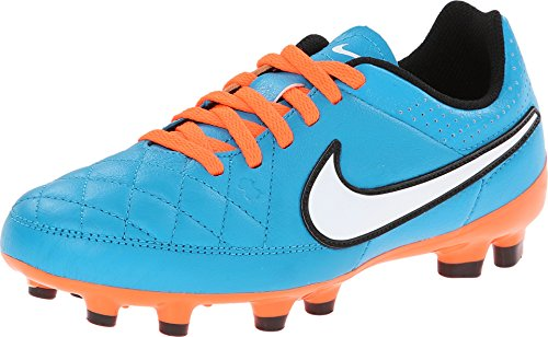 Nike JR Tiempo Genio Leather Boys Youth Soccer Cleats Shoes (5Y)