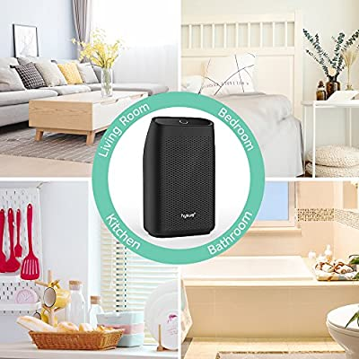 .com - Hysure Dehumidifier, 700ml Compact Deshumidificador 1200 Cubic Feet(215 sq ft) Quiet Room Dehumidifier, Portable Dehumidifier Bathroom Dehumidifier for Dorm Room, Baby Room, Home … -