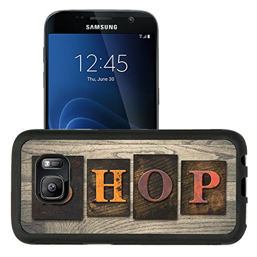 Luxlady Premium Samsung Galaxy S7 Aluminum Backplate Bumper Snap Case IMAGE ID: 35334575 The word SHOP written in wooden letterpress - Premium Mall Coupons Outlet