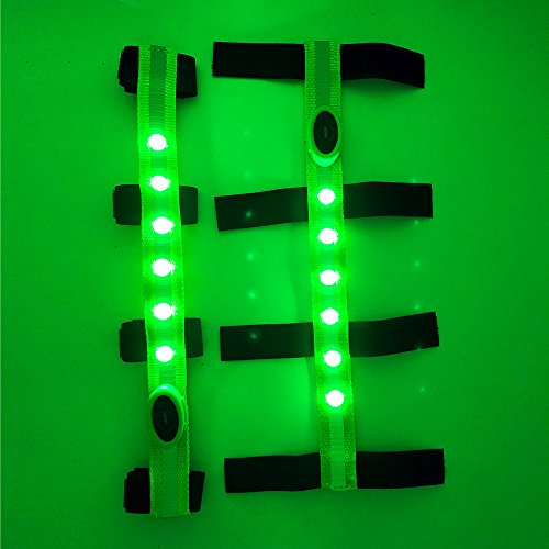 MOYLOR Illuminate LED Protective Gear Head Collar for Horse Browband Horse Bridle Safety Light Horses Equipment - Horsing Accessory (1pcs of Green)